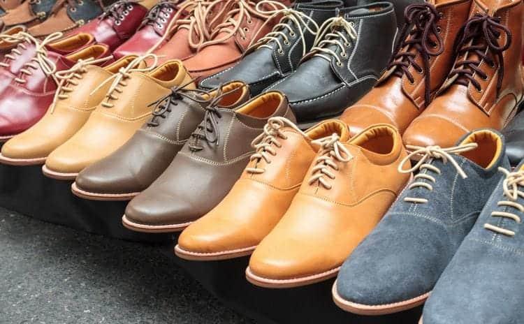 靴の素材として用いられる合皮