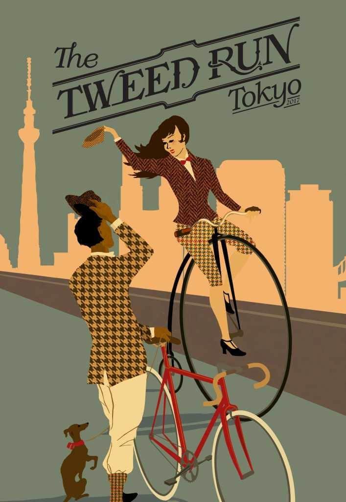 自慢の自転車×自慢のツイード、ドレスコードのあるオシャレ自転車イベント『Tweed Run Tokyo』って?