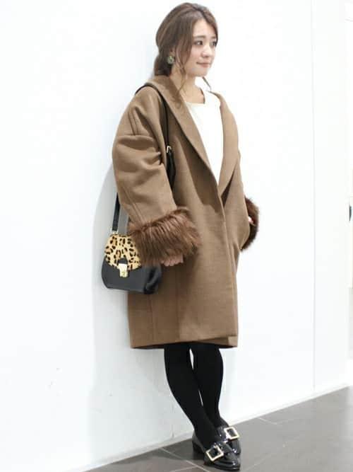 ガウンコート、チェスターコート、エコファー……今冬に着たいコートのコーデ集