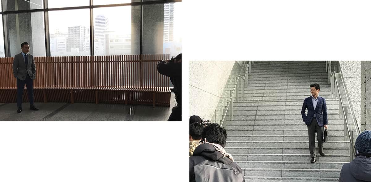 <潜入レポート>スーツ姿で全力疾走!? 元サッカー日本代表・鈴木啓太×歌舞伎役者・市川右團次出演のホーキンス ハイブリット システム2TVCM収録レポート!