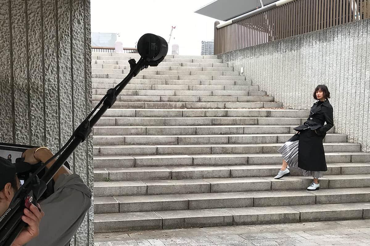 <潜入レポート>大人は脚から美しく。モデル・佐田真由美が出演するホーキンス ブリリアントTVCM収録舞台裏