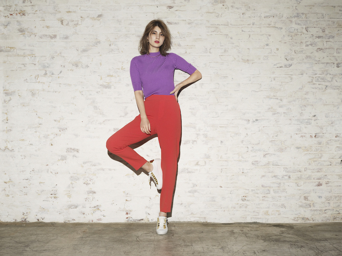 モデル・マギーに聞く!ルコック新作ゴールドコレクションのコーデ術&春のファッショントレンド♪