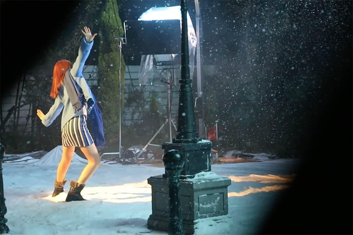 韓国女優・スヨンが雪降る中でダンス♡ホーキンス スノーブーツTVCM撮影TVCM撮影オフショット
