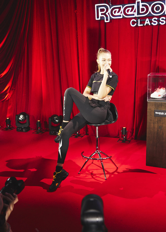 【フォトレポ】モデルのジジ・ハディッドが来日!リーボック クラシックとのコラボレーションによるカプセルコレクションを披露!ライブ&ダンスも