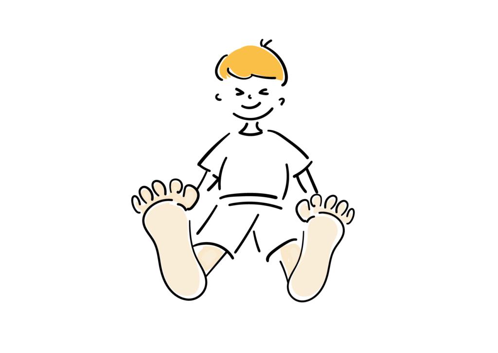 子供の足が臭い! においの原因とすぐできる対策は?