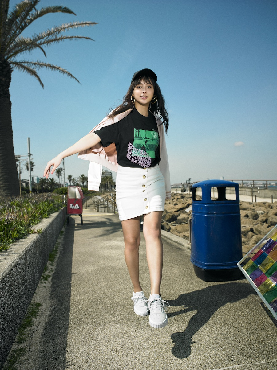 石田ニコルがL.Aガールズスタイルで履きこなす、プーマ・CALITVCM撮影の裏側インタビュー<潜入レポート>